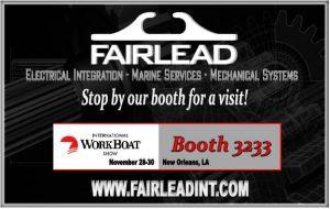 Fairlead Exhibits at International WorkBoat Show 2018 - Fairlead